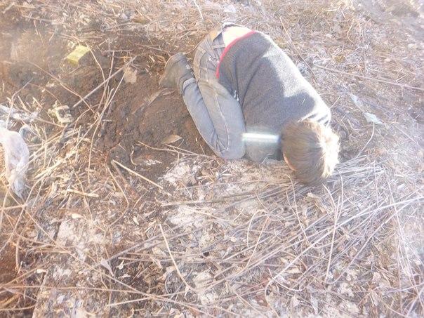 Спасение щенков из-под земли